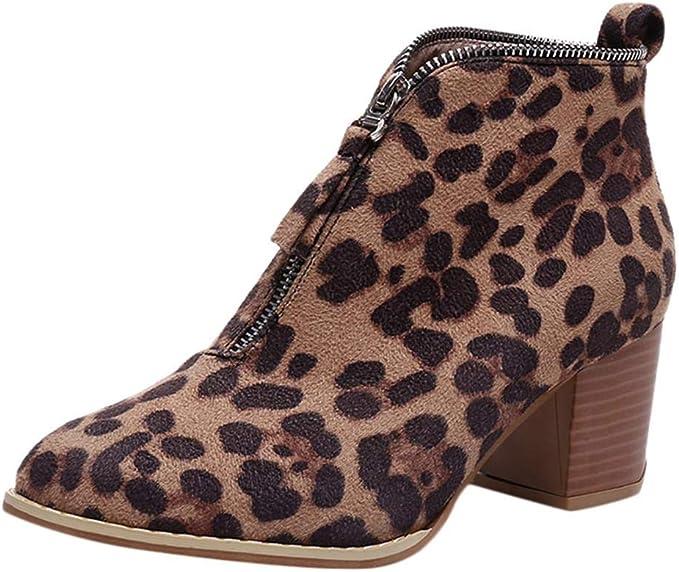 Logobeing Tacones Mujer Plataforma Zapatos Botines de Tacon Mujer ...
