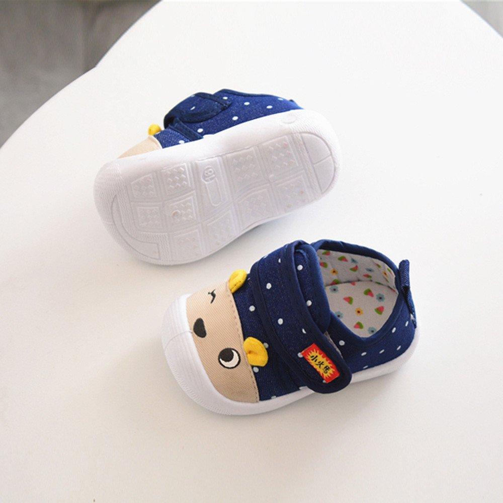 Buoyee Infant Kids Baby Boy Girls Cartoon Anti-Slip Shoes Soft Sole Squeaky Sneakers
