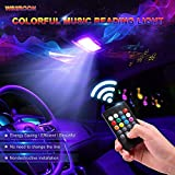#6: Wsiiroon Car Led Dome Lights - 5050 24SMD Multicolored Car Interior Reading Lights with Sound Active Function and Universal T10 / BA9S Adapters(2Pack, DC 12V)