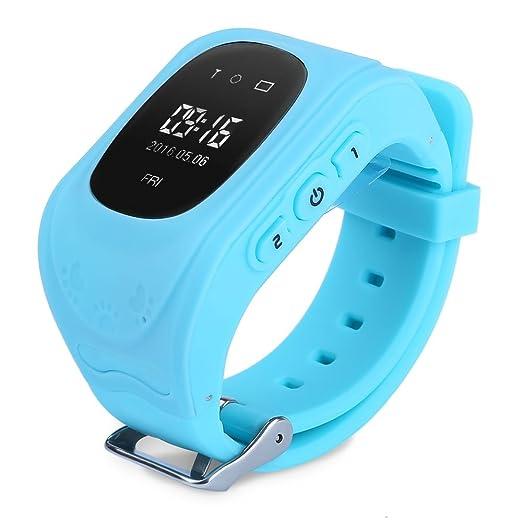 Gearbest Q50 niños reloj inteligente con control de la seguridad GPS TRACKER SOS apoyo ranura para tarjetas SIM para iOS Android: Amazon.es: Relojes