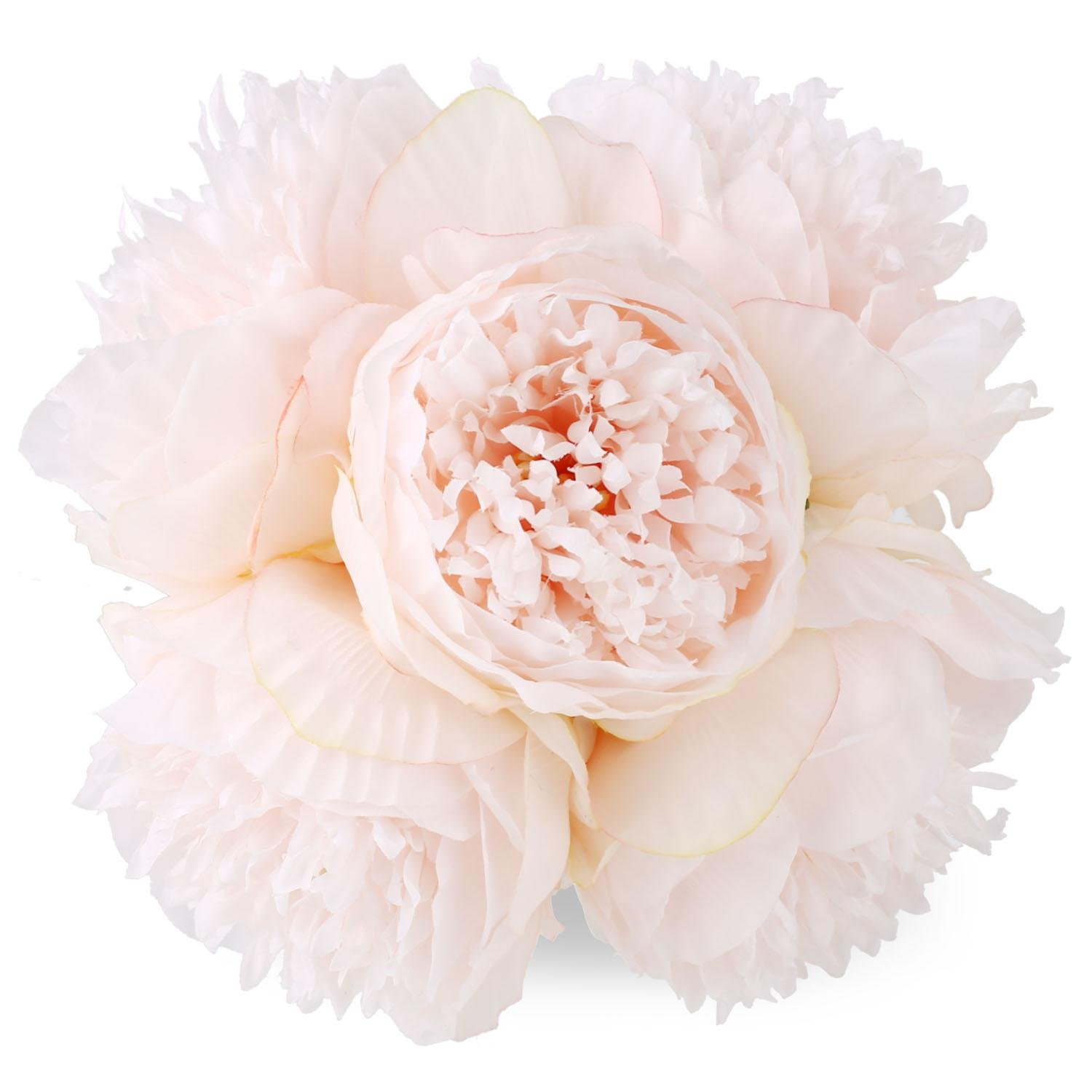 Flowers Artificial Pink Peony Wedding Bouquet Fake Silk Bundle