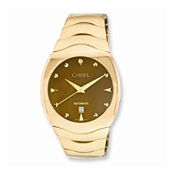 307f2071a9897a Image Unavailable. Image not available for. Color  Chisel Tungsten    Champagne Mother of Pearl Dial Mens Watch