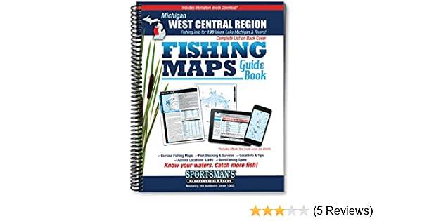 West Central Michigan Fishing Map GuideSportsman/'s Connection