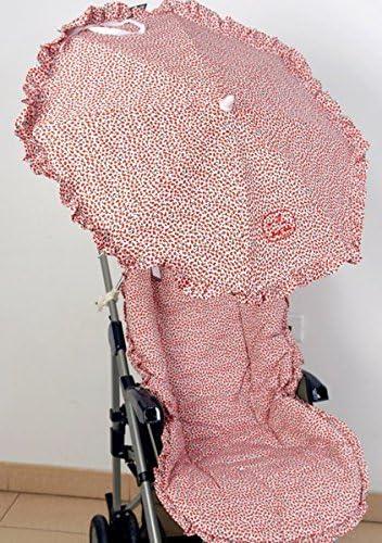 Colchoneta para silla de paseo universal flor roja con sombrilla ...