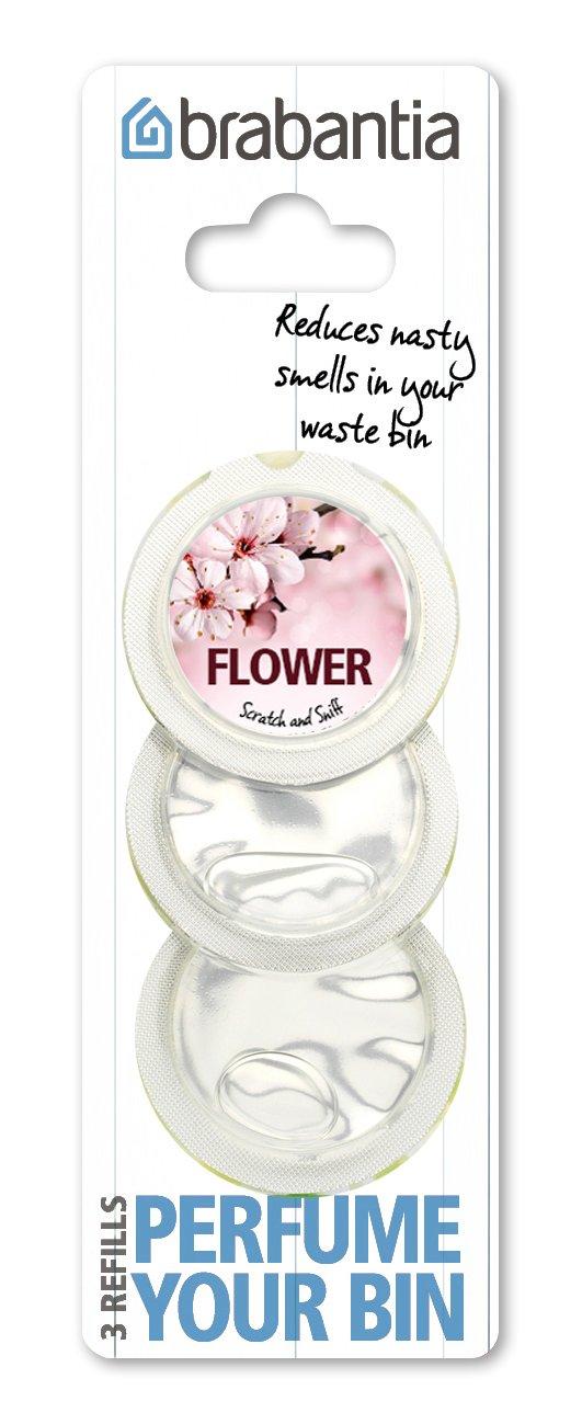 Brabantia 482083 - Recambio de 3 cápsulas perfumadas para cubos de basura, olor a flores: Amazon.es: Coche y moto