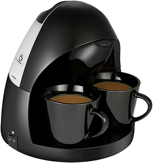 decdeal Mini cafetera de filtro de café eléctrica para 2 tazas de café por 125 ml Ink.2 tazas de porcelana: Amazon.es: Hogar