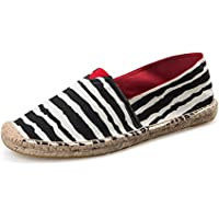 EQUICK Women's Round Toe Canvas Breathable Platform Casual Slip-On Loafers Espadrilles Flats