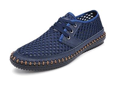 deyou Atmungsaktive Herrenschuhe Atmungsaktive Sommer-Mesh-Schuhe, Wanderschuhe