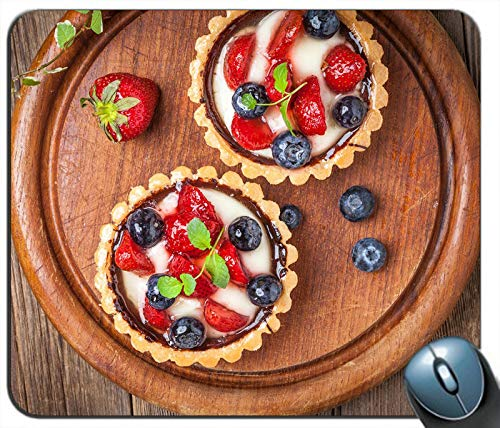 Dessert Cakes Pie Berries Personalized Rectangle Mouse Pad Mouse -