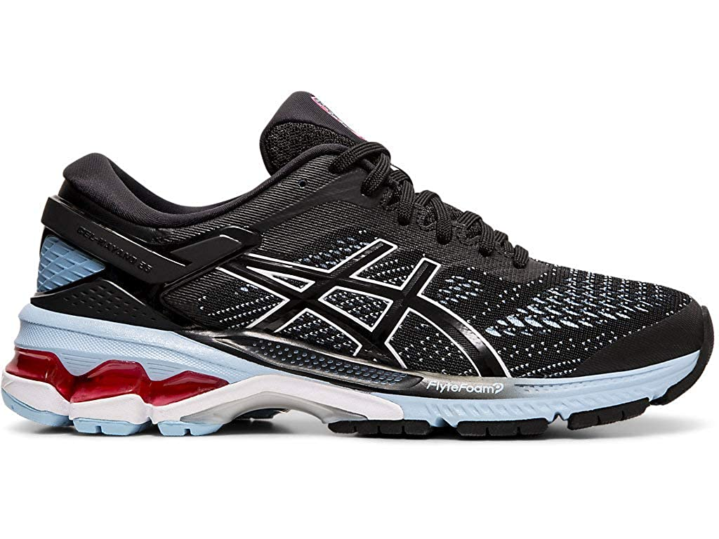 ASICS Womens Gel-Kayano 26 Running Shoes, Black/Heritage Blue, 6 M US: Amazon.es: Zapatos y complementos