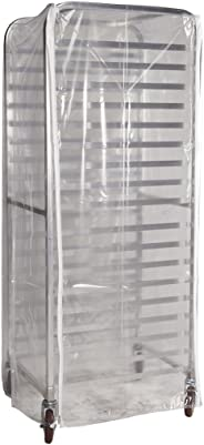 Winholt SRC-58/3Z Bun Pan Rack Cover, Heavy Duty Plastic, 3 Zippers, 23