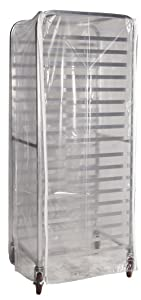 "Winholt SRC-58/3Z Bun Pan Rack Cover, Heavy Duty Plastic, 3 Zippers, 23"" W x 28"" L x 61"" H, Clear"