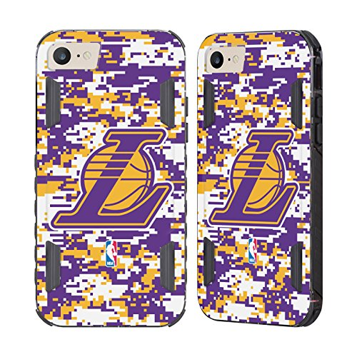 Evolution Camo (Official NBA Digital Camouflage Los Angeles Lakers Black Evolution Case for Apple iPhone 7 / iPhone 8)