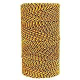 Kraft Tool W. Rose RO689 Super Tough Professional Bonded Braided Nylon Mason's Line, 685-Feet, Black/Gold/Orange