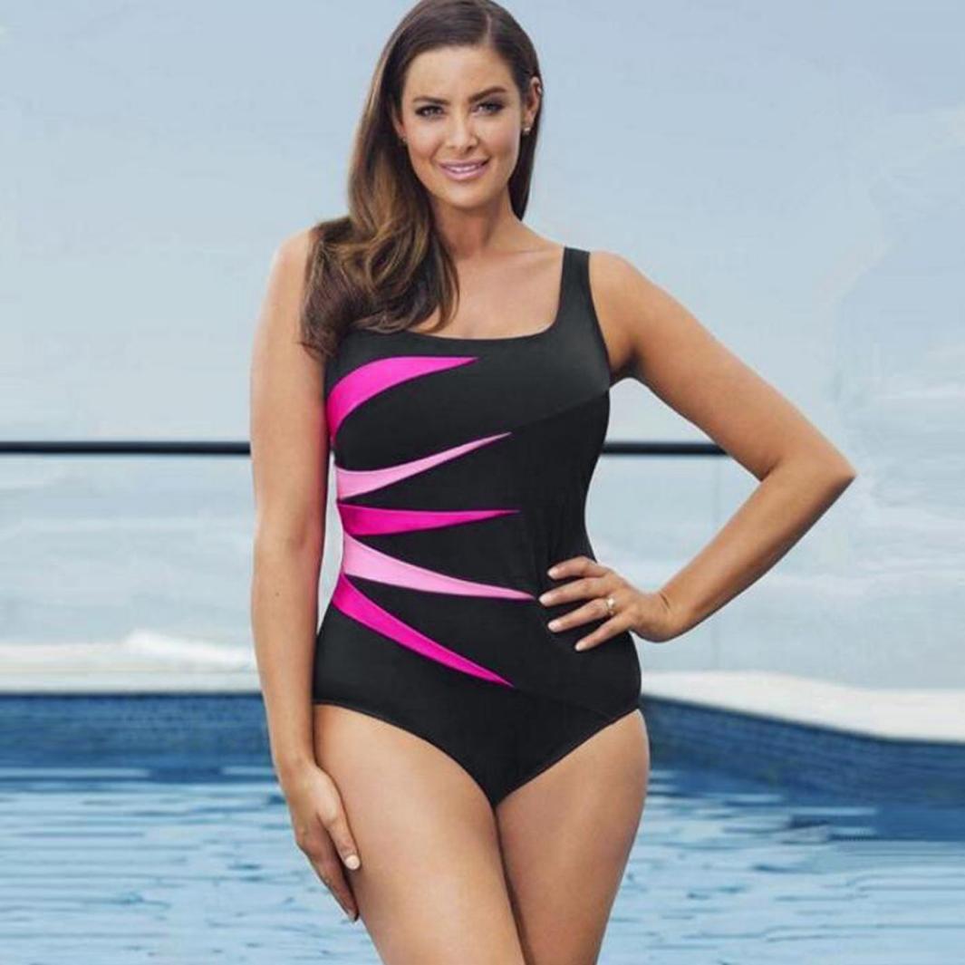 d976e12be105f Gocheaper Plus Size Halter Onepiece Swimsuit