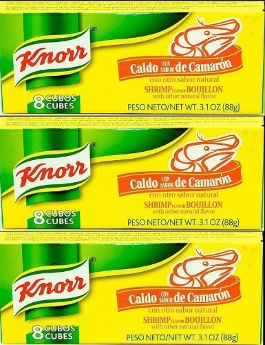 (Knorr Caldo De Camaron - Shrimp Bouillon Cubes 88g Each 3 Piece Lot From Mexico by Knorr)