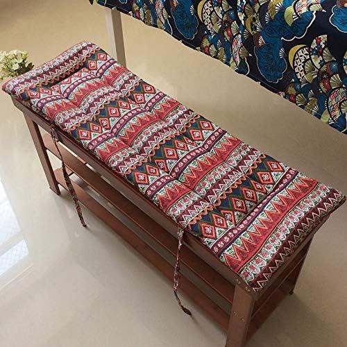 antideslizante colch/ón de 2 cm de grosor tumbona de madera suave lavable coj/ín de asiento de banco de asiento Coj/ín para banco de jard/ín de 2 y 3 plazas