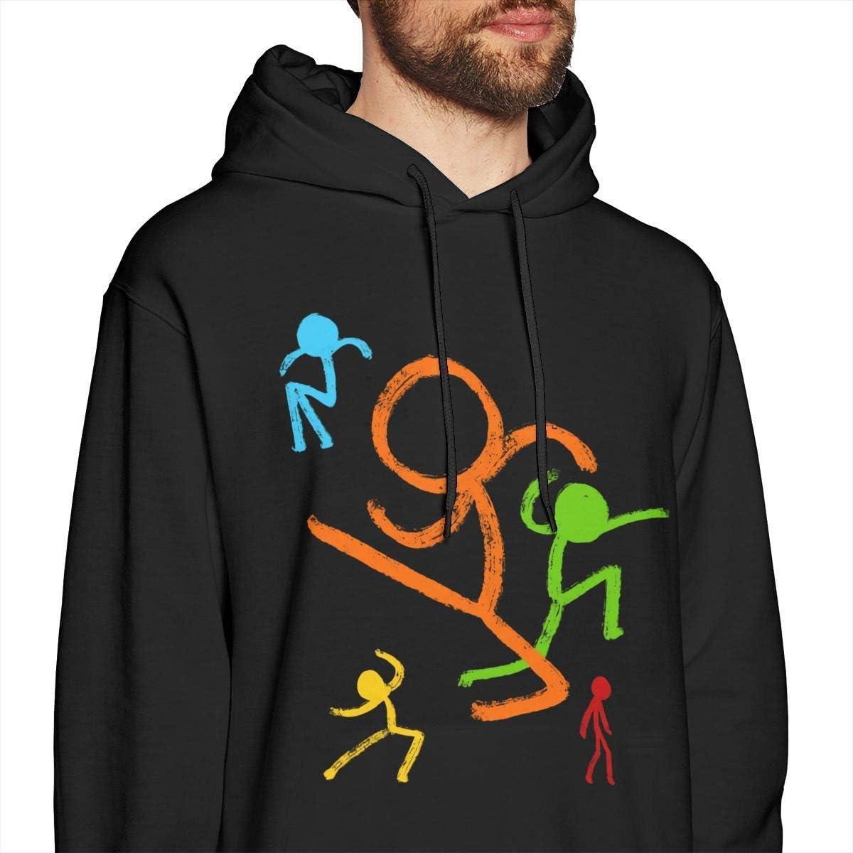Sudaderas de Hombre Five Stick Figures Alan Becker ManS Hoodie Sweater Fashion Classic Long Sleeve Top Hoodies Hooded Sweatshirt Casual Top