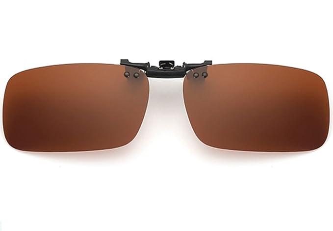 ELSA & ANNA® Hombre Mujer Unisex Polarizado Flip-up Clip en Las Gafas de