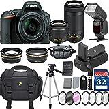 Nikon D5500 DX-format Digital SLR w/ AF-P DX NIKKOR 18-55mm f/3.5-5.6G VR and 70-300mm F/4.5-5.6G DX Lens + 32GB Memory+ Proffessional Accessory Bundle – International Version