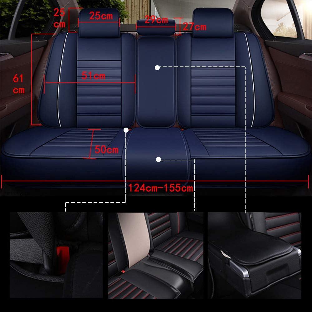 Beige Autositzbezug-Set f/ür 5-Sitzer Automotive Pick Up SUV Truck Kunstleder Sitzschutz Autoinnenausstattung 5 Farben