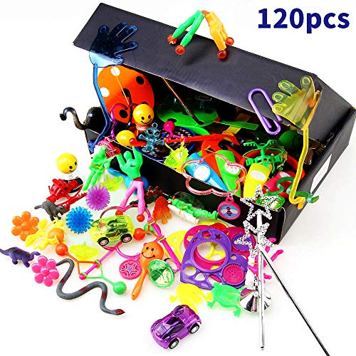 Amy&Benton 120PCS Kids Birthday Party Favors for Goody Bag Fillers, Kid Carnival Prizes Box Toys Assortment for Classroom Treasure Chest Toys,Assorted Pinata Filler Toys Gifts for Birthday Party ()