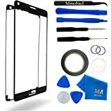 MMOBIEL Front Glass for Samsung Galaxy Note 4 N910 (Black) replacement kit 12 pcs