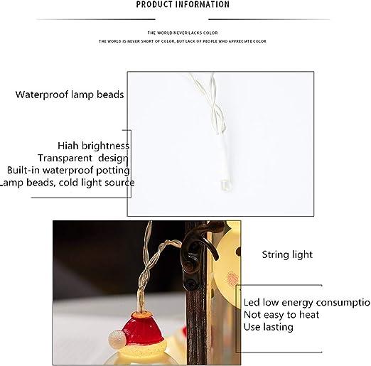 Alimentado Por Batería, Decorativo De Navidad, Luces de Cadena de Para Interiores, Exteriores, Dormitorios, Glorietas, fiestas, Jardines, Bodas Y Más: Luz de Navidad LED de cadena (3 m 20Lights): Amazon.es: Iluminación