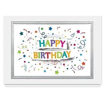 Amazon Birthday Funfetti 25 Premium Birthday Cards With Foil