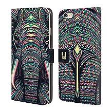 Head Case Designs Elephant Aztec Animal Faces Leather Book Wallet Case Cover For Apple iPhone 6 Plus / 6s Plus