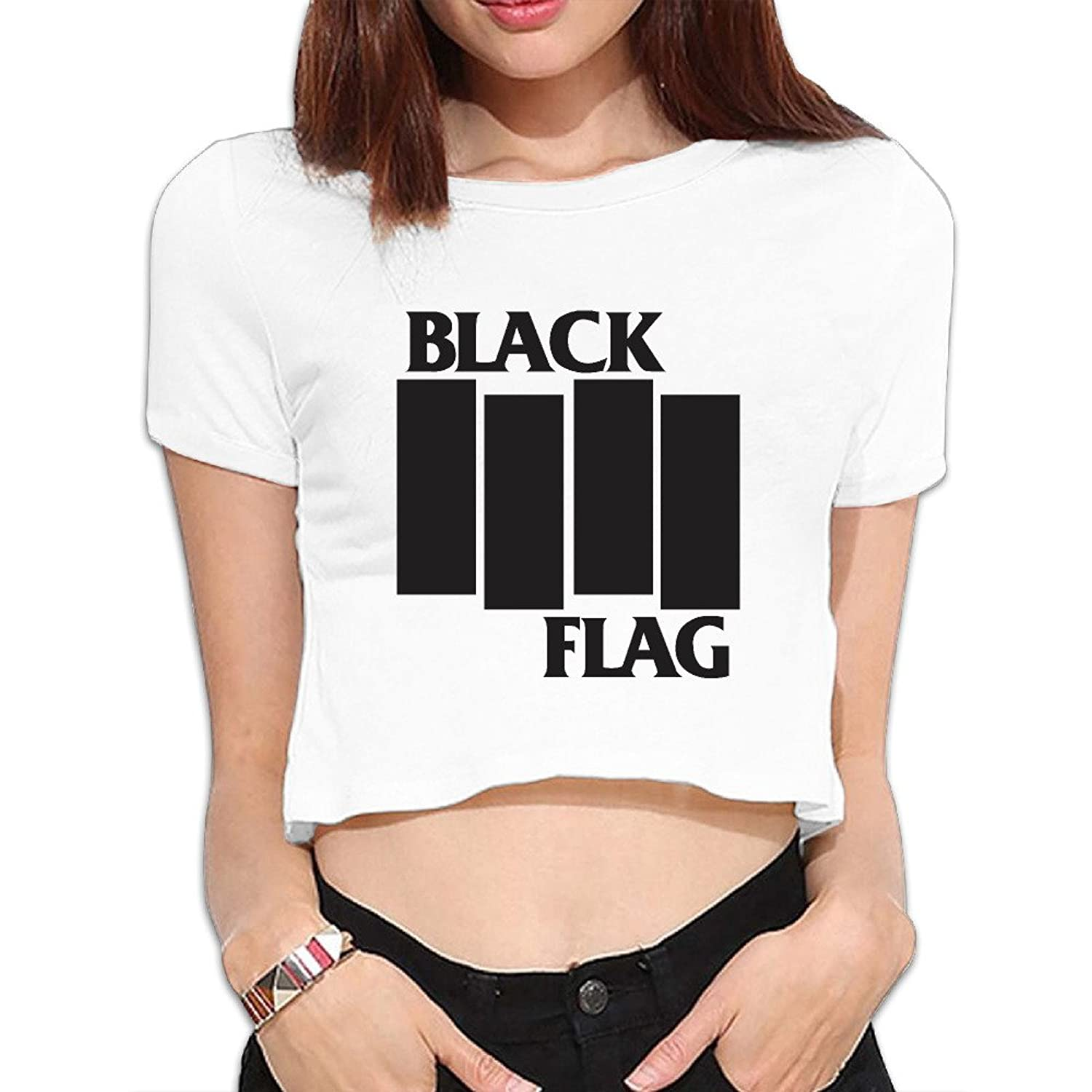 Black flag t shirt europe - The Black Flag Logo Rise Above My War Women S Navel Crop Tops We Carry The Most Update Graphics Inspired By The Latest Trends Excellent Service In Terms Of