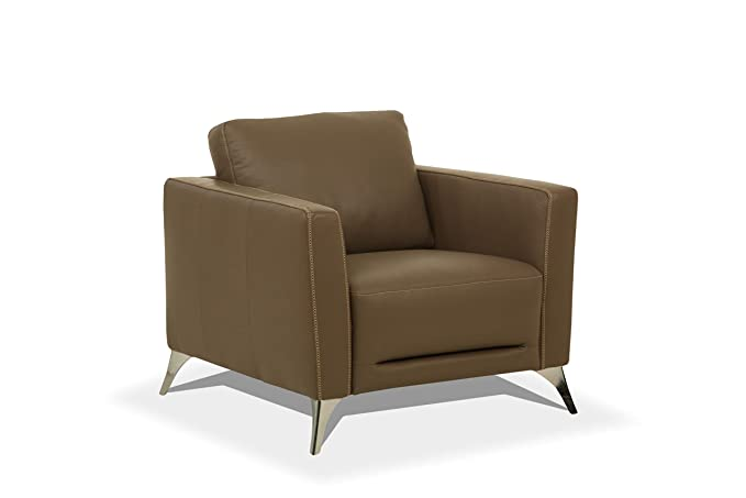 Amazon.com: Acme Furniture Malaga - Silla, Metal Cuero ...