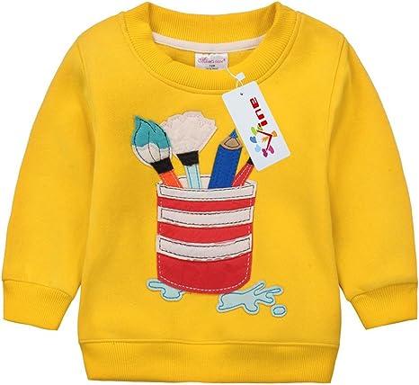 Sudaderas para Niños Navidad ciervos Bebé Camisetas de Manga Larga Niñas Sweatshirt Tops Vine 3 años: Amazon.es: Ropa y accesorios