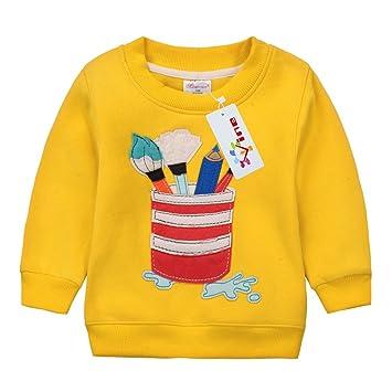99c64cf0a Sudaderas para Niños Navidad ciervos Bebé Camisetas de Manga Larga Niñas  Sweatshirt Tops Vine 3 años  Amazon.es  Ropa y accesorios