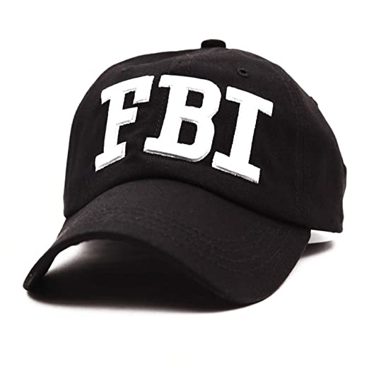 Rzxkad Leisure Embroidery FBI Baseball Cap Men Women Snapback Cap Unisex Adjustable Hip Hop Dad Hat Gorras Hombre Black at Amazon Mens Clothing store: