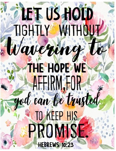 Read Online Let Us Hold Tightly Without Wavering To The Hope We Affirm, For God Can Be Trusted To keep His Promise Hebrews 10:23: Journal (Diary, Notebook) (Volume 9) PDF