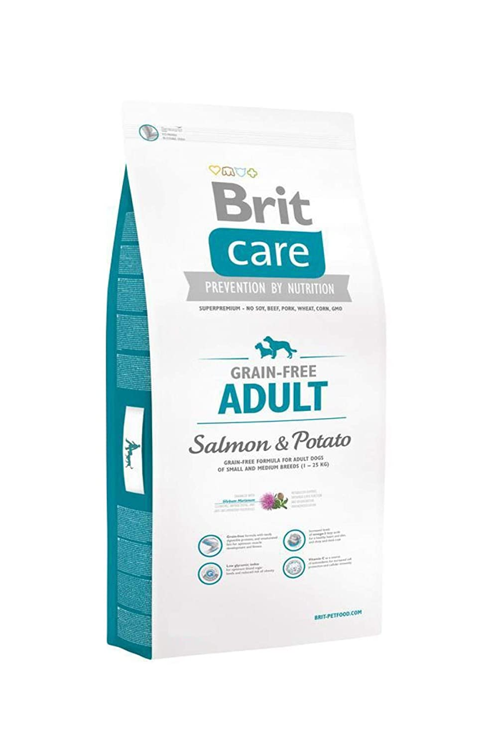 Brit Care Grain-Free Adult Dog Food, Salmon and Potato, 12 kg