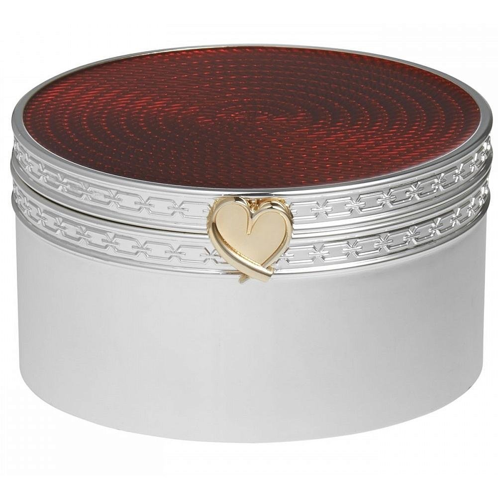 Vera Wang by Wedgwood Silver Plated With Love Treasures Red Heart