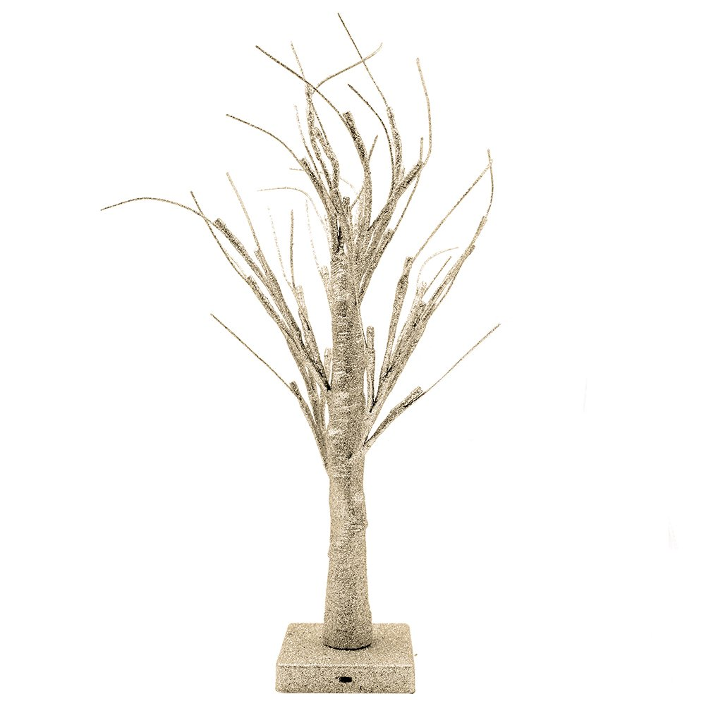 Lighted Branches Electric, Small Desk Christmas Tree Bonsai with 32 Warm White LED Lights for Home Festival Wedding Party Christmas Indoor Outdoor Decoration, Led Bonsai Tree Light, Yimai(Gold)
