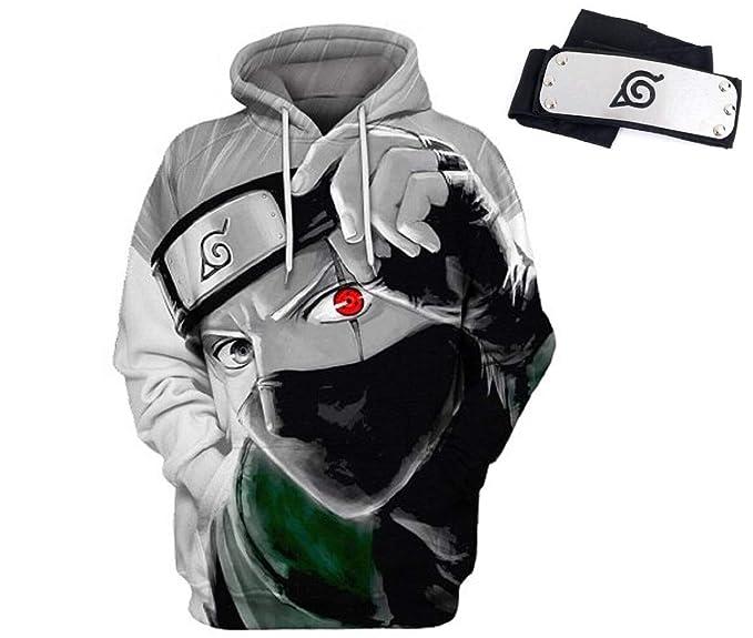 Amazon.com: Naruto Kakashi Sudadera con capucha para hombre ...