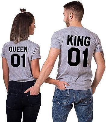 Double Fashion 2 Matching Couple T-Shirt for Valentine Wedding Birthday