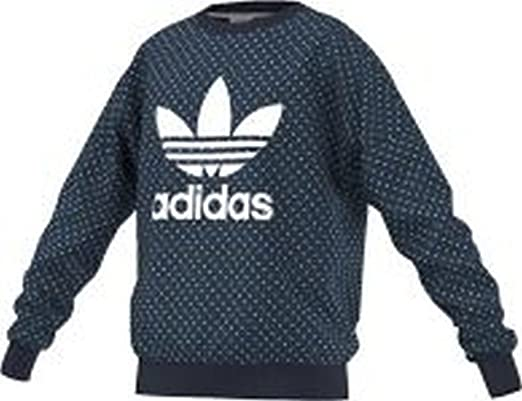 adidas Originals Girls Junior Denim Crew Sweatshirt 5 6Y