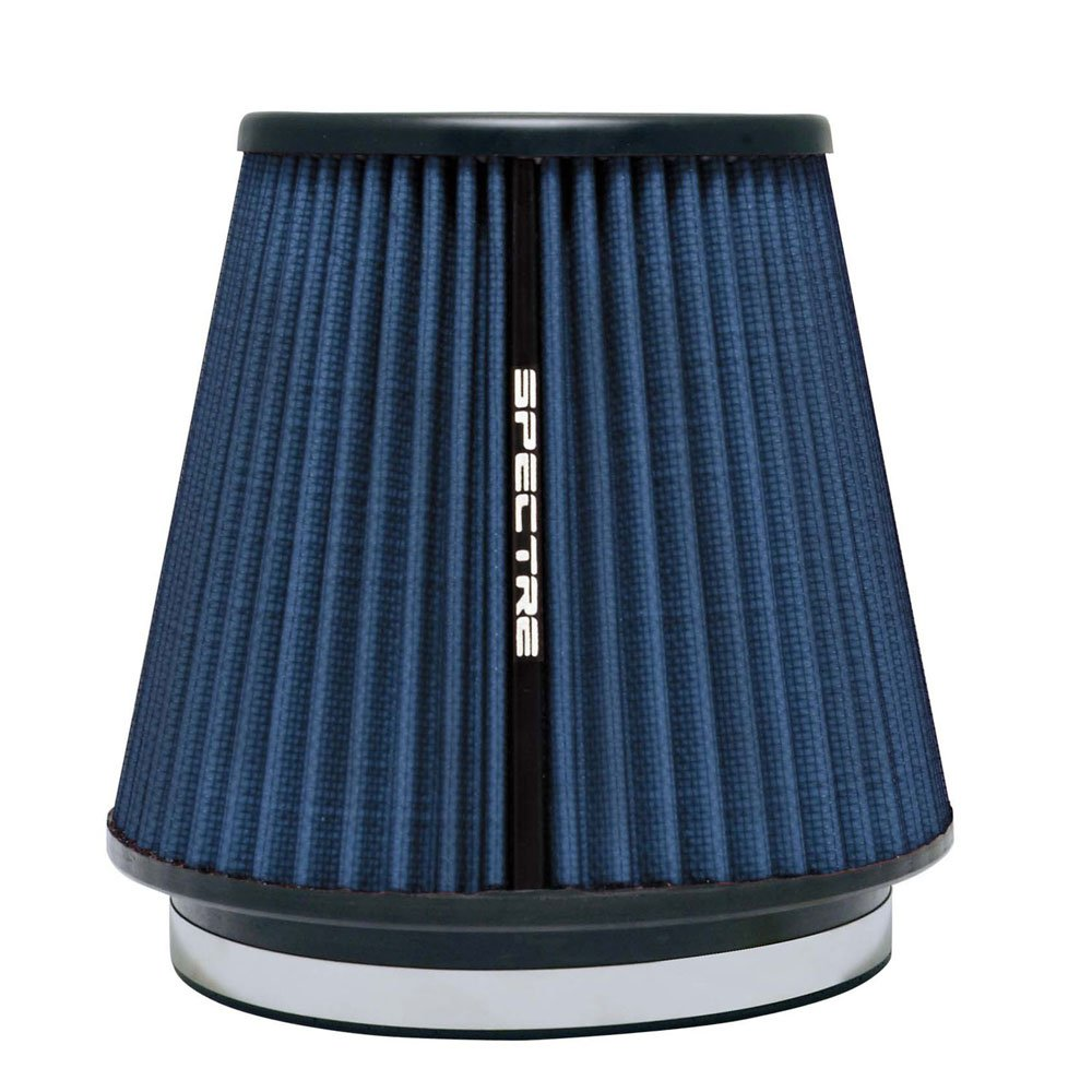 Spectre Performance HPR9892B Universal Clamp-On Air Filter: Round Tapered; 6 in (152 mm) Flange ID; 7 in (178 mm) Height; 7.313 in (186 mm) Base; 5.125 in (130 mm) Top by Spectre Performance