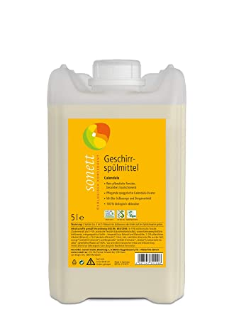 Sonett Calendula - Detergente para lavavajillas, para lavar a mano ...