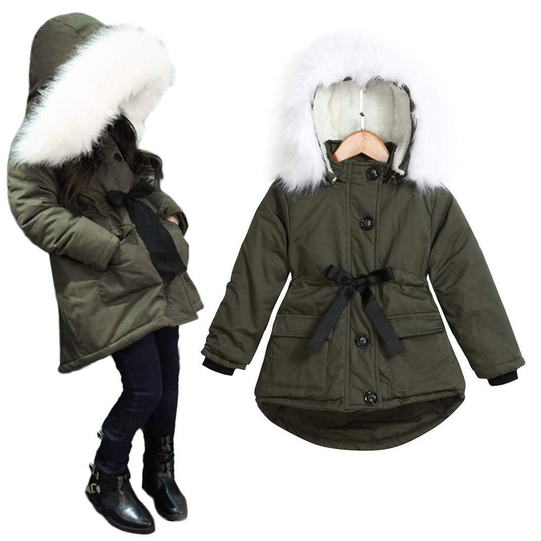 Luoluoluo Giacca Bimba,Cappotti Bimba Invernali Bambino Giacche di Piuma Giubbotti per Ragazze Inverno Cappotti con Cappuccio