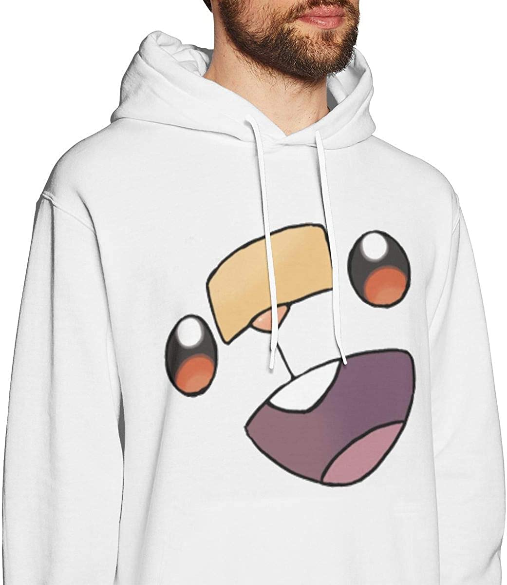 NZ Sword and Sobble Face Herren Pullover Hoodies Rundhals-Langarm-Sweatshirt Weiß Medium|style2