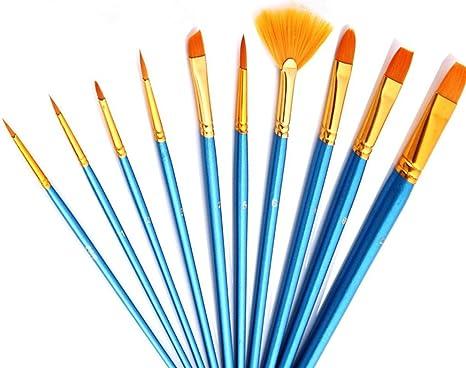 Fan Shape Brush Painting Pen Nylon Acrylic Hair Watercolor Art Supplies LA