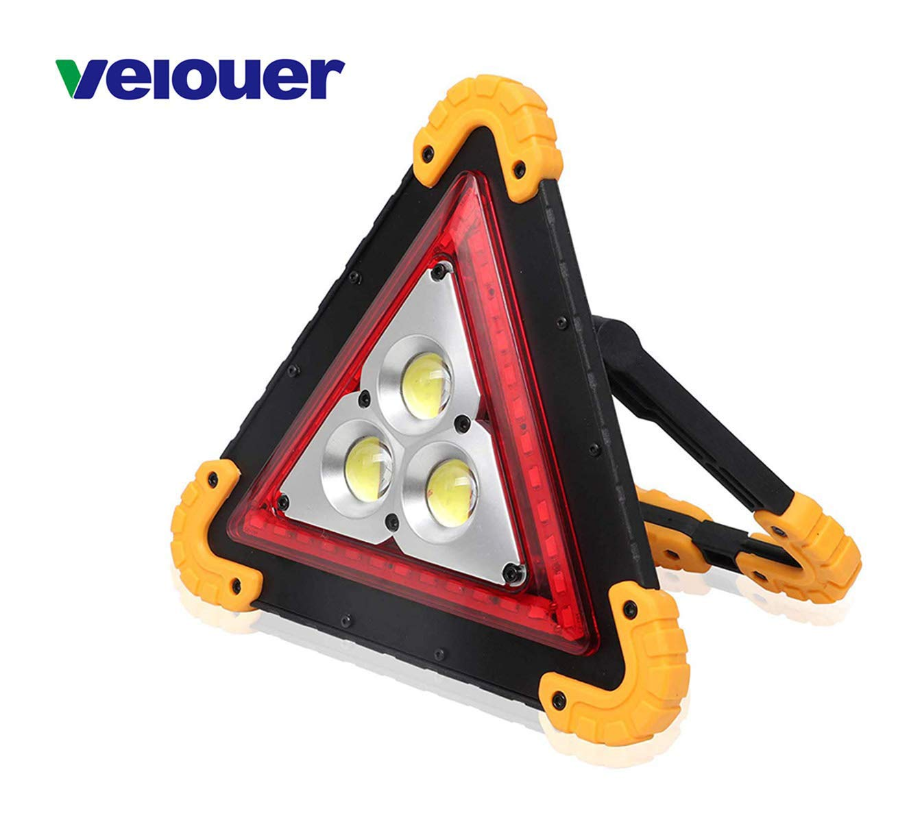 Velouer LED Work Light Rechargeable Portable Waterproof Triangle Warning Camping Outdoor Work Light Camping Hiking Emergency Car Repairin