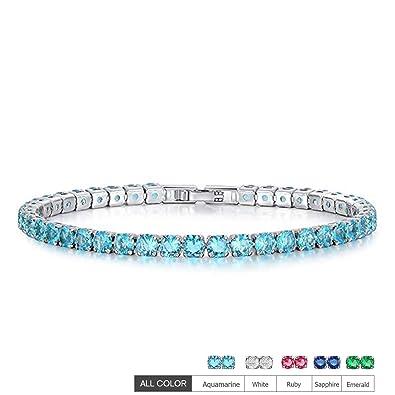 b6de83c648083 EEPIRR AAA+ Cubic Zirconia Friendship Tennis Bracelet 18K White Gold Plated  Round Cut CZ Diamond Bracelets Crystal Jewelry Gifts for Women
