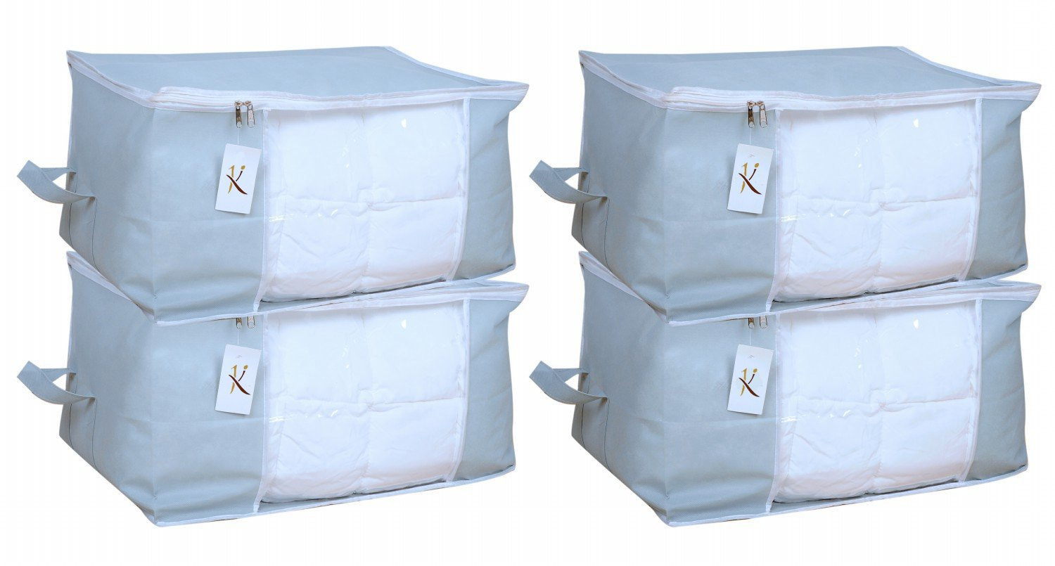 Kuber Industries 4 Piece Non Woven Underbed Storage